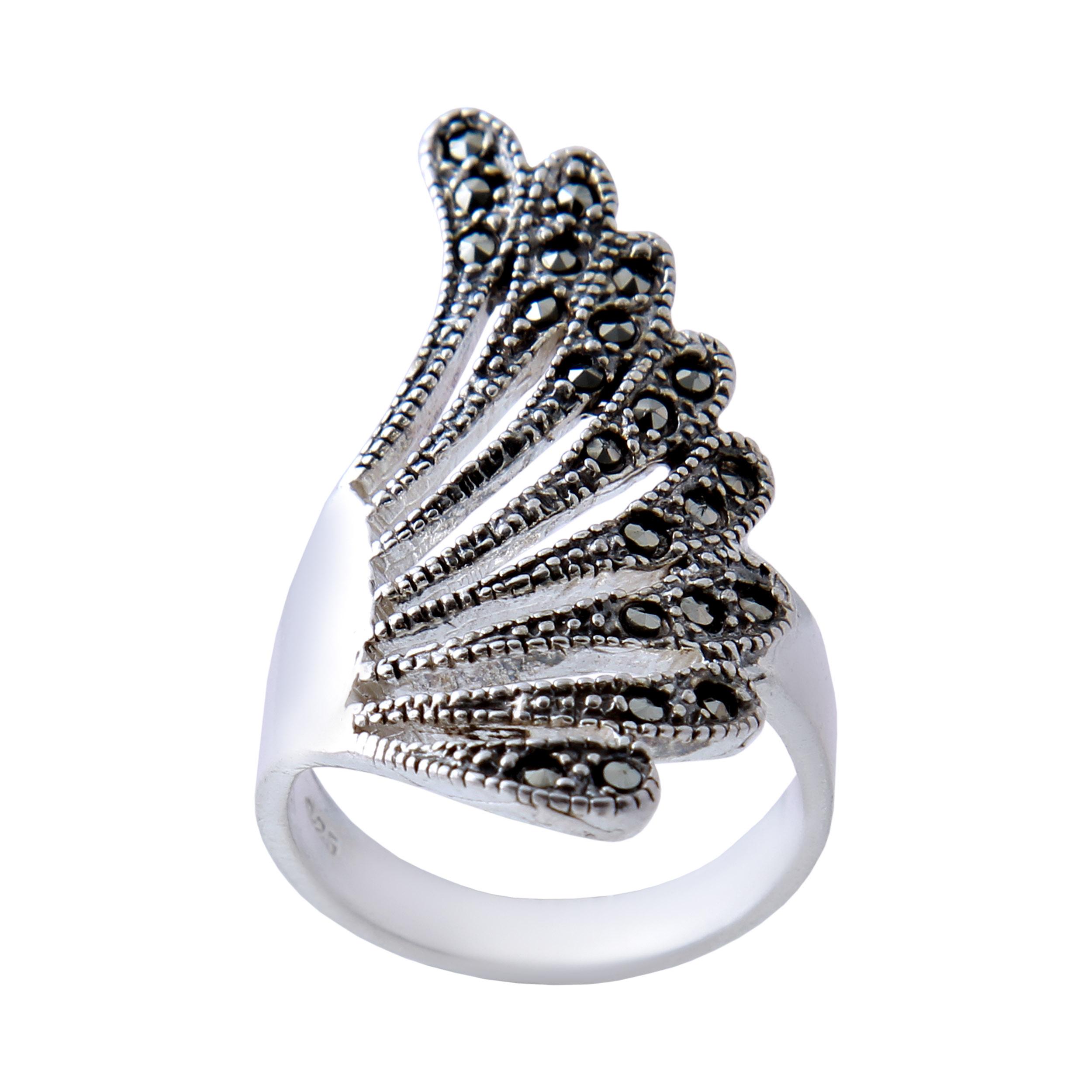 انگشتر نقره زنانه بازرگانی میلادی  AW_344
