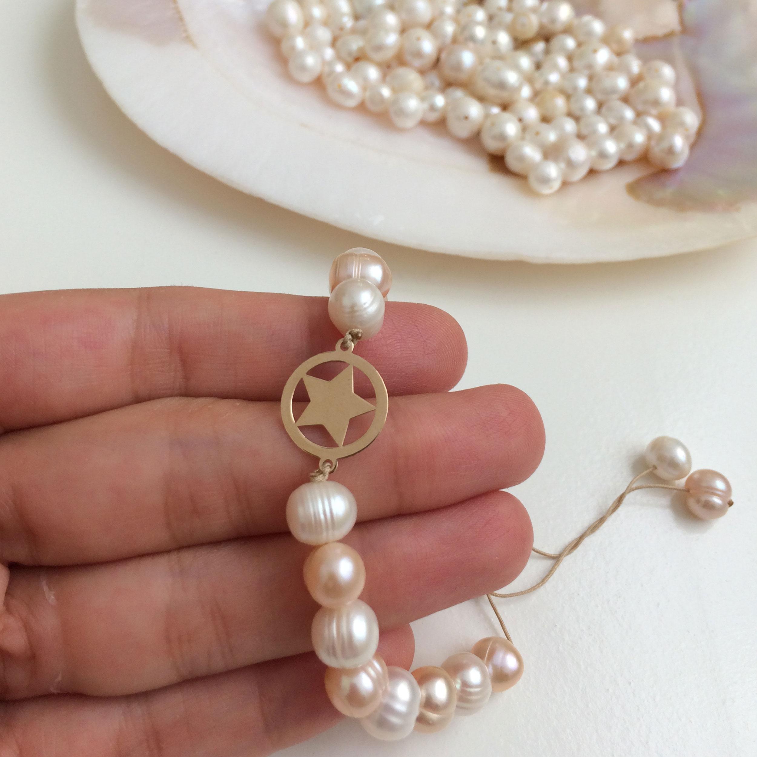 دستبند طلا 18 عیار زنانه الماسین آذر کد SETARE01 -  - 6