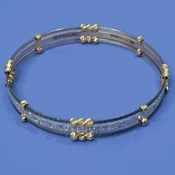 النگو طلا 18 عیار زنانه گالری یارطلا مدل 12 کد AL45-W-2