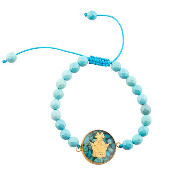 دستبند زنانه الون طرح تاج کد FIR102