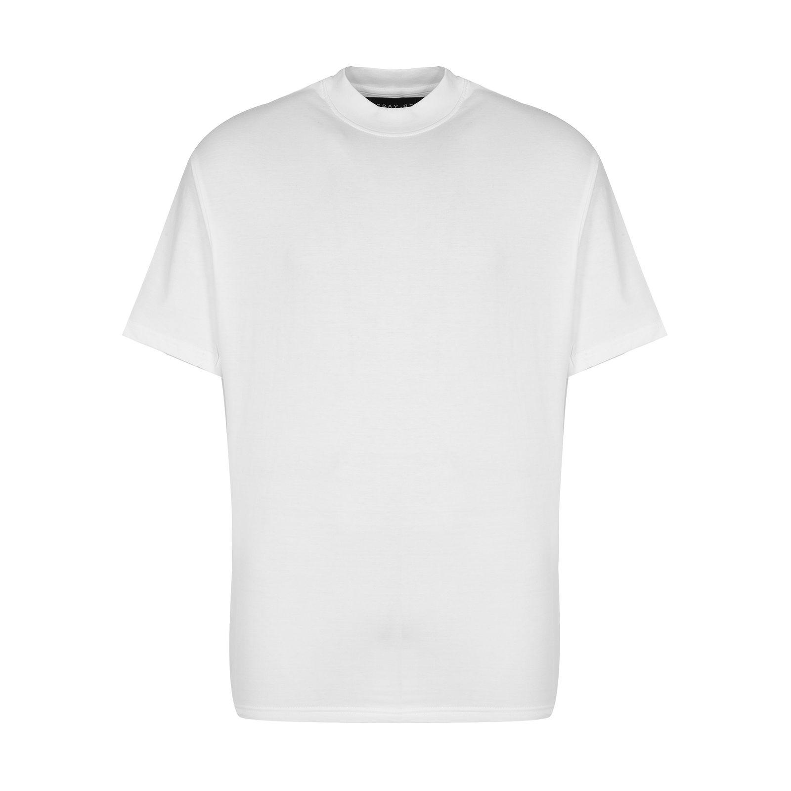 تیشرت آستین کوتاه مردانه گری مدل H20 -  - 2