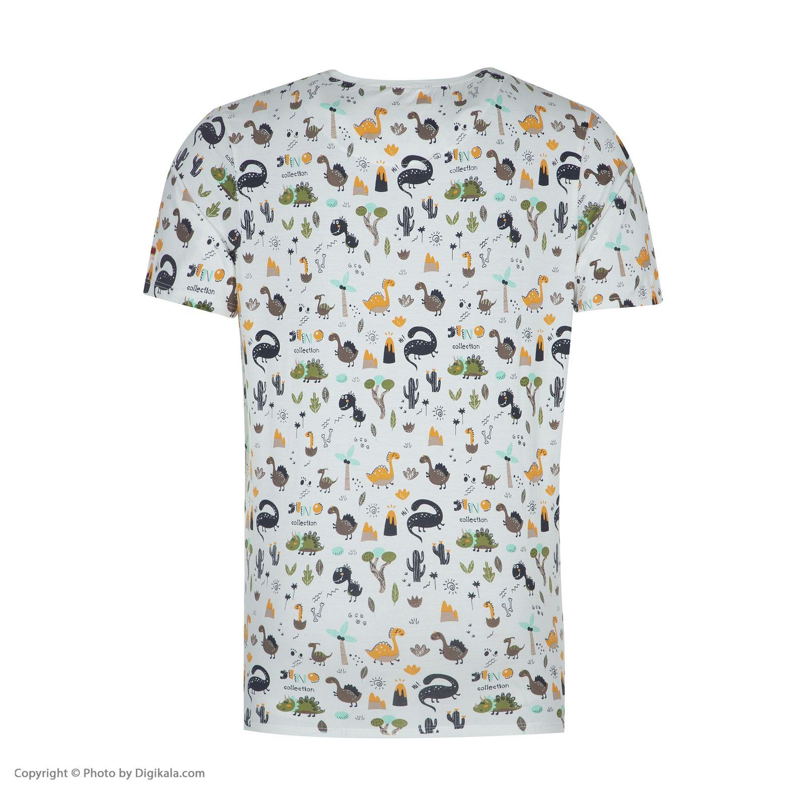 ست تی شرت و شلوارک راحتی مردانه مادر مدل 2041110-07 -  - 6