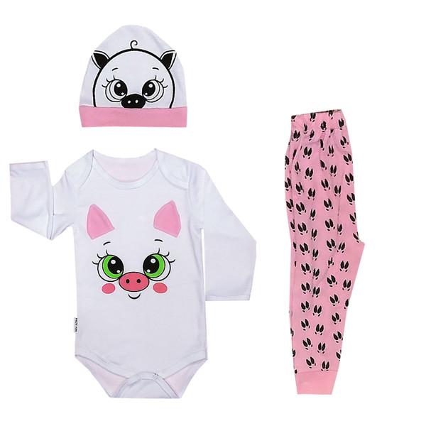 ست 3 تکه لباس نوزادی مدل خوک