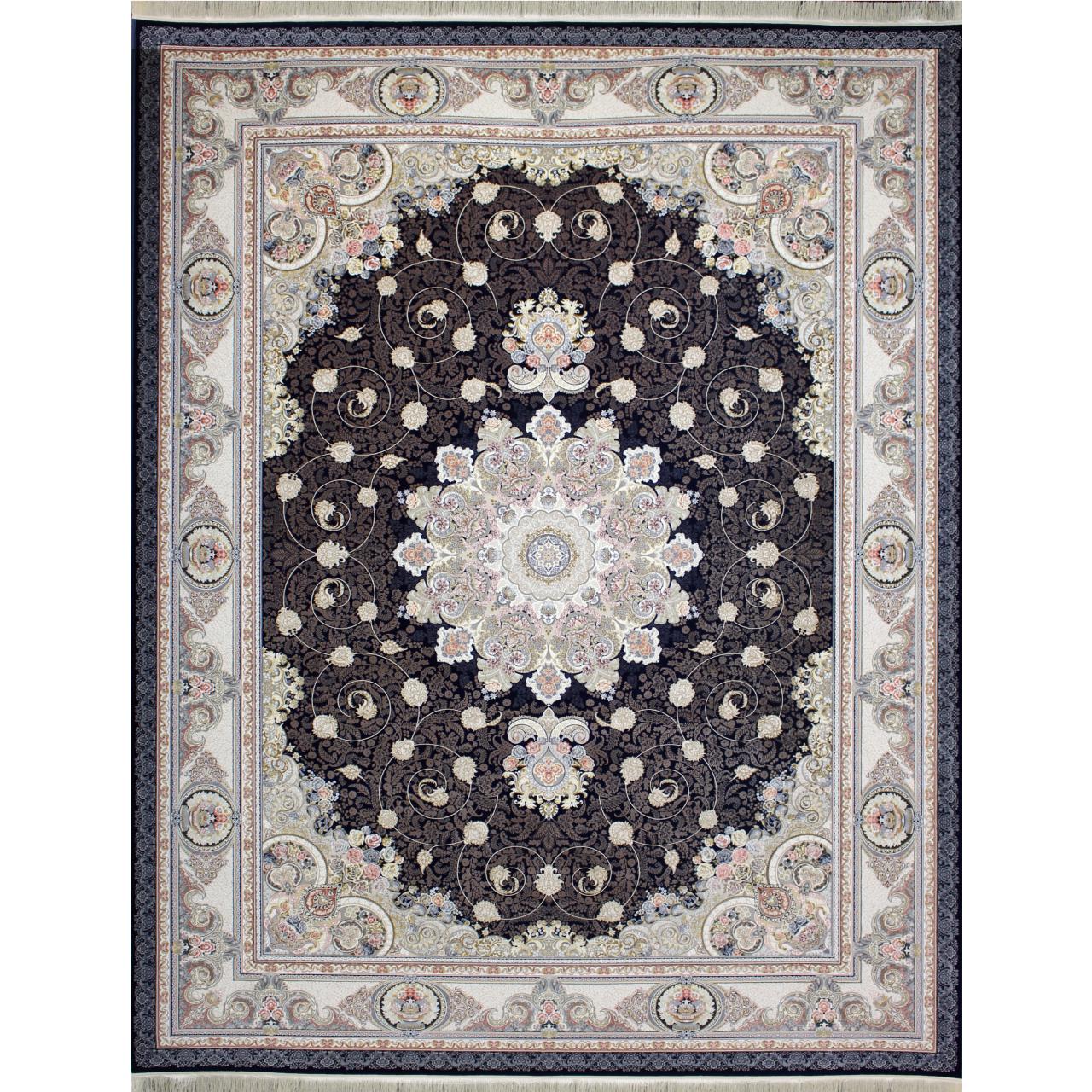 فرش ماشینی کد afrand_55018 زمینه سرمهای
