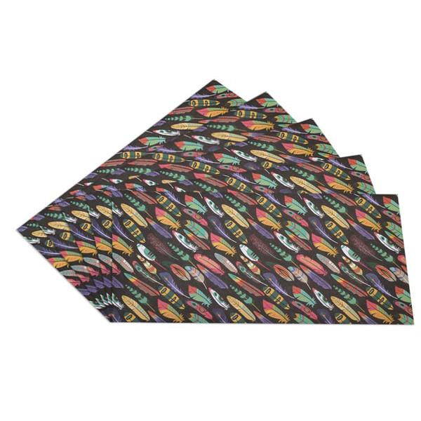پاکت نامه انتشارات سیبان مدل Feather بسته 5 عددی