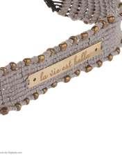 دستبند طلا 18 عیار زنانه آبستره مدل D03 -  - 3