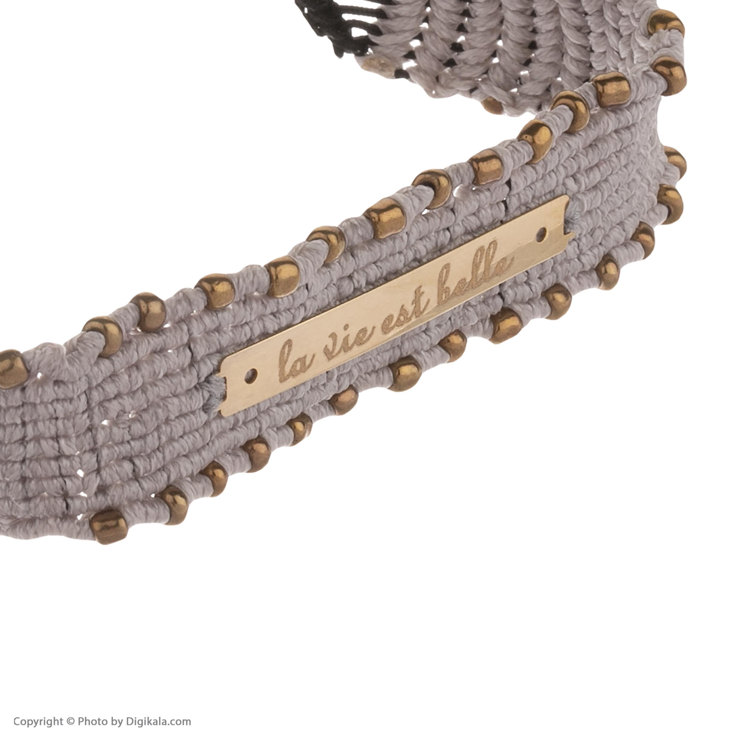 دستبند طلا 18 عیار زنانه آبستره مدل D03 -  - 4