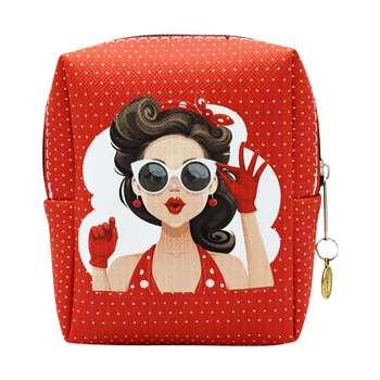 کیف لوازم آرایش زنانه طرح دخترمدل CB-001