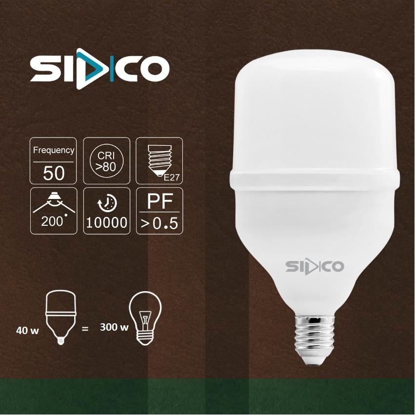 لامپ ال ای دی 40 وات سیدکو مدل SLS40 پایه E27