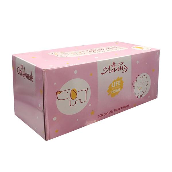 دستمال کاغذی 100 برگ چشمک مدل Pin_k baby Collection
