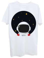 تی شرت آستین کوتاه زنانه طرح فضانورد کد Z336 -  - 1
