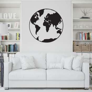 استیکر طرح کره زمین کد 005