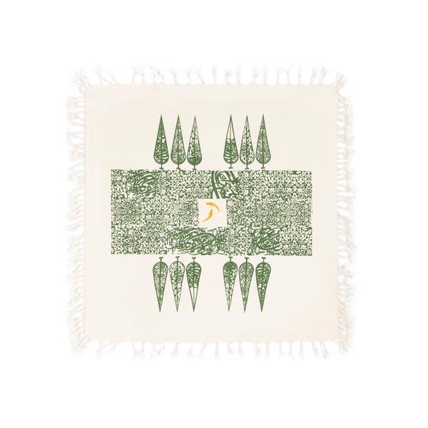 رومیزی چاپ دستی گدار مدل باغ کاشی