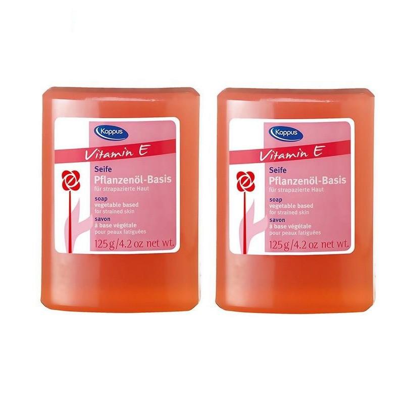 صابون شستشو کاپوس مدل Vitamin E وزن 125 گرم مجموعه 2 عددی