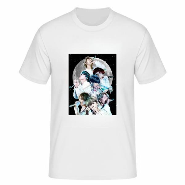 تی شرت آستین کوتاه زنانه مدل بی تی اس tme246