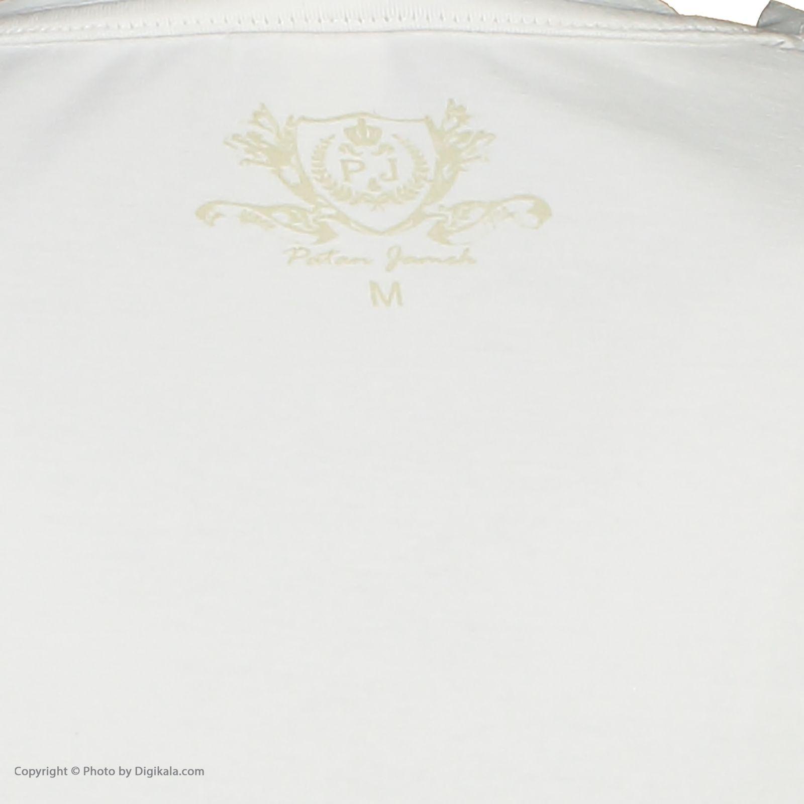 تی شرت مردانه پاتن جامه کد 99M5224 رنگ سفید -  - 5
