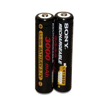باتری لیتیوم یون قابل شارژ سونی کد ICR-18650 ظرفیت 3000 میلی آمپر ساعت بسته ۲ عددی