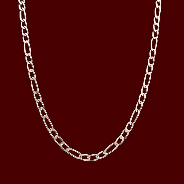 زنجیر نقره مردانه مدل فیگارو VZ5409