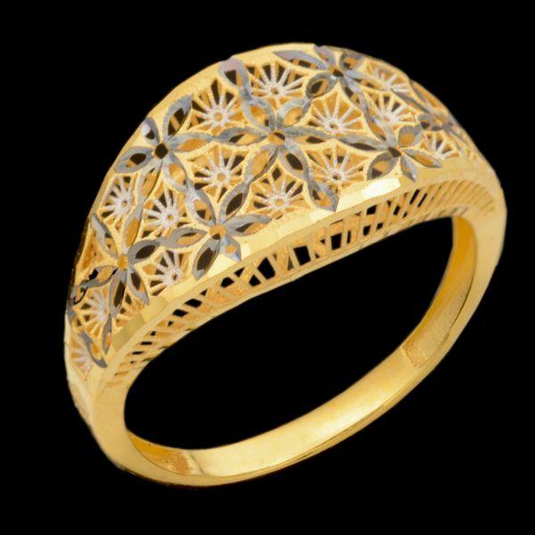 انگشتر طلا 18 عیار زنانه طلای مستجابی مدل 670157