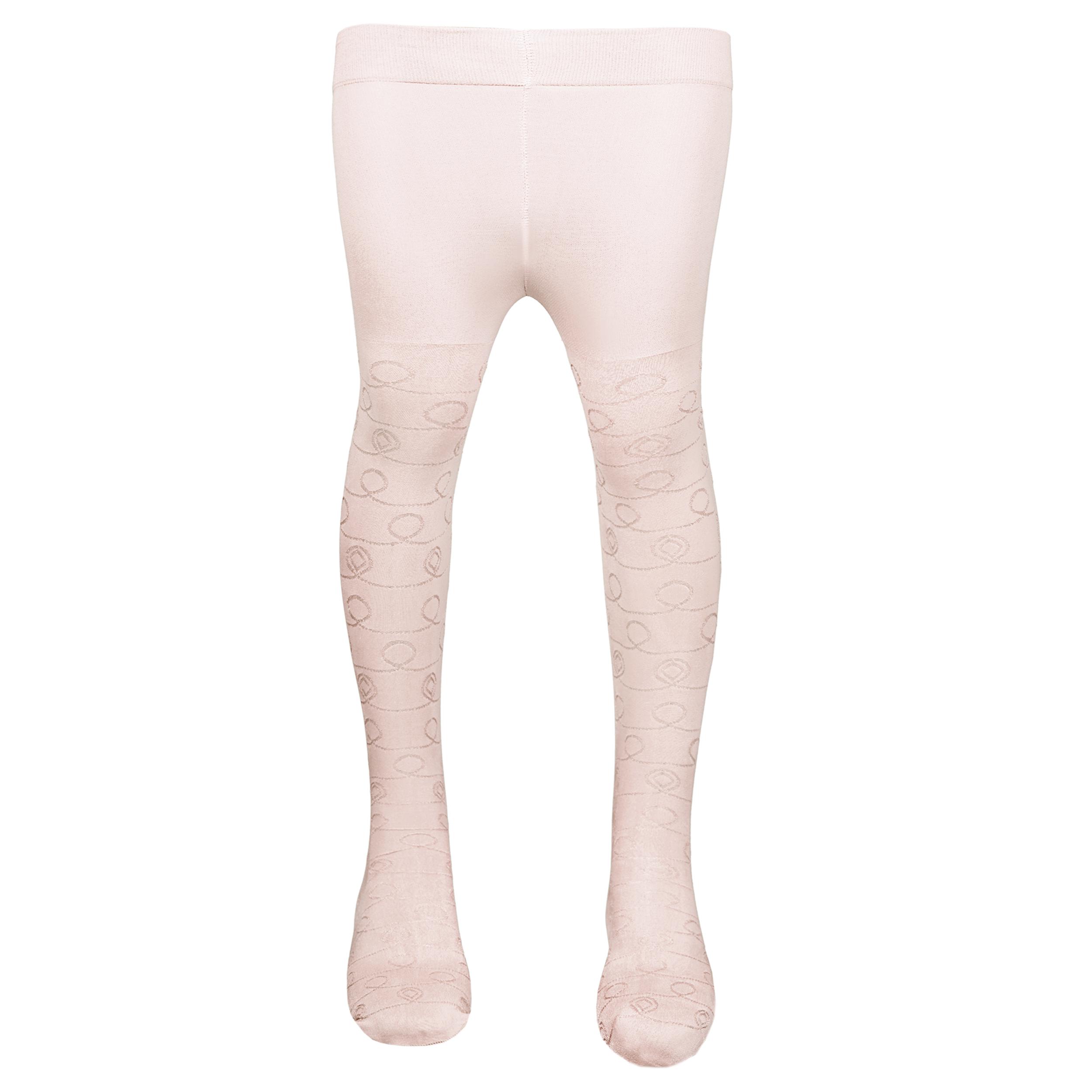 جوراب شلواری دخترانه کد ِDRe65_8  رنگ شیری