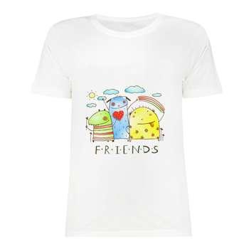 تی شرت آستین کوتاه دخترانه مدل SK991105-014