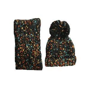 ست کلاه و شال گردن بافتنی کد 531 رنگ مشکی