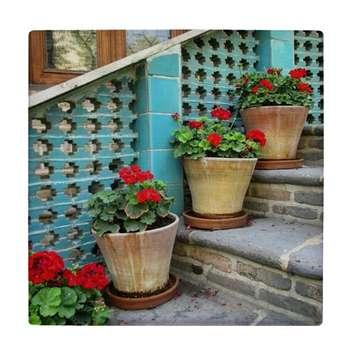 کاشی کارنیلا طرح گلدان های شمعدانی کد wk4550