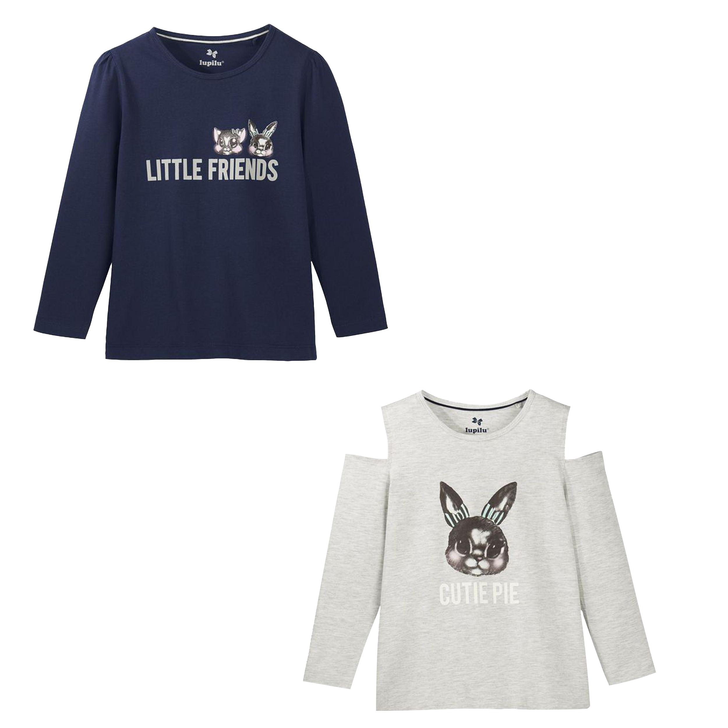 تی شرت دخترانه لوپیلو کد lusb028 مجموعه دو عددی