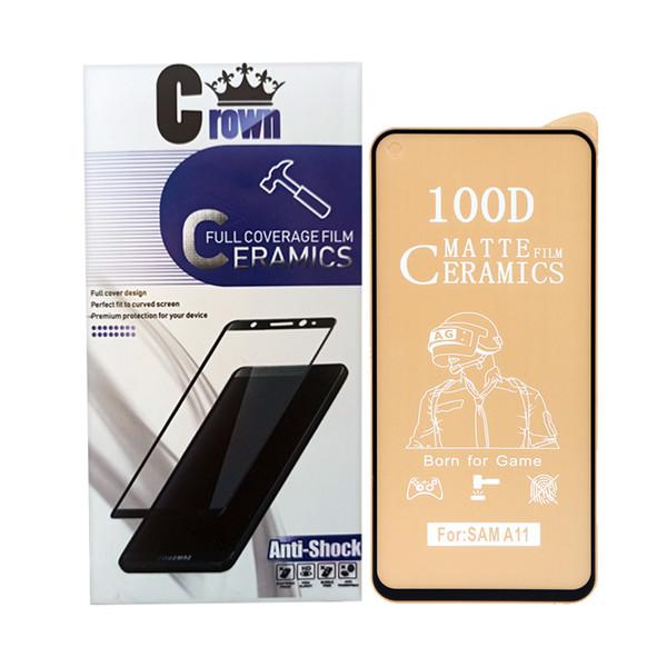 محافظ صفحه نمایش سرامیکی مات کراون مدل a11 مناسب برای گوشی موبایل سامسونگ galaxy A11