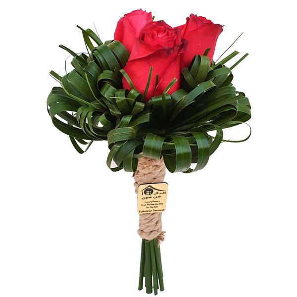 دسته گل رز کلبه گل سن سون مدل DG-11015