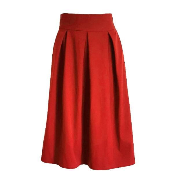 دامن زنانه کد 577 رنگ قرمز