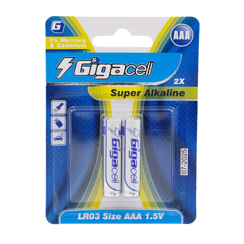 باتری نیم قلمی گیگاسل مدل Super بسته 2 عددی