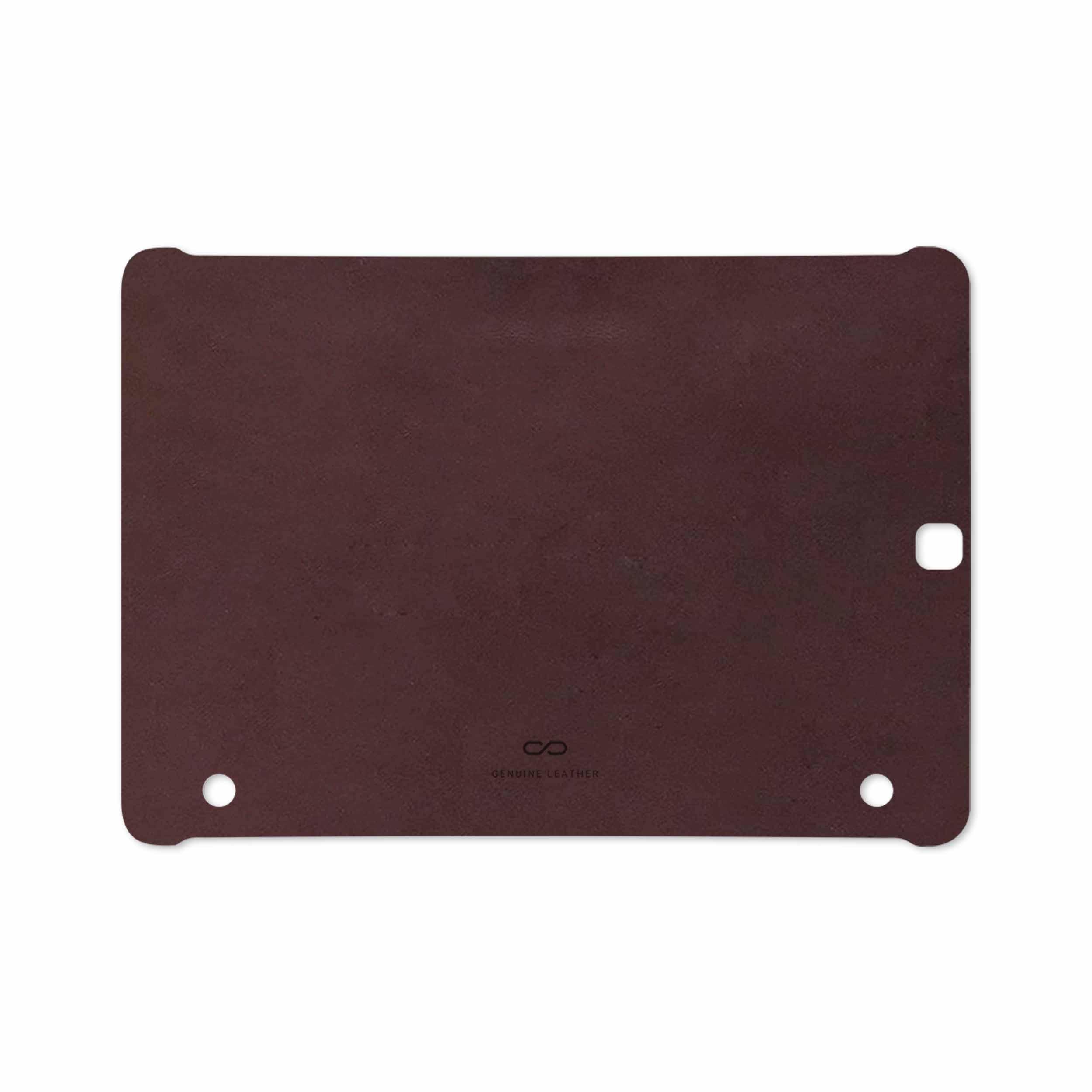 بررسی و خرید [با تخفیف]                                     برچسب پوششی ماهوت مدل Matte-Dark-Brown-Leather مناسب برای تبلت سامسونگ Galaxy Tab S2 9.7 2016 T813N                             اورجینال