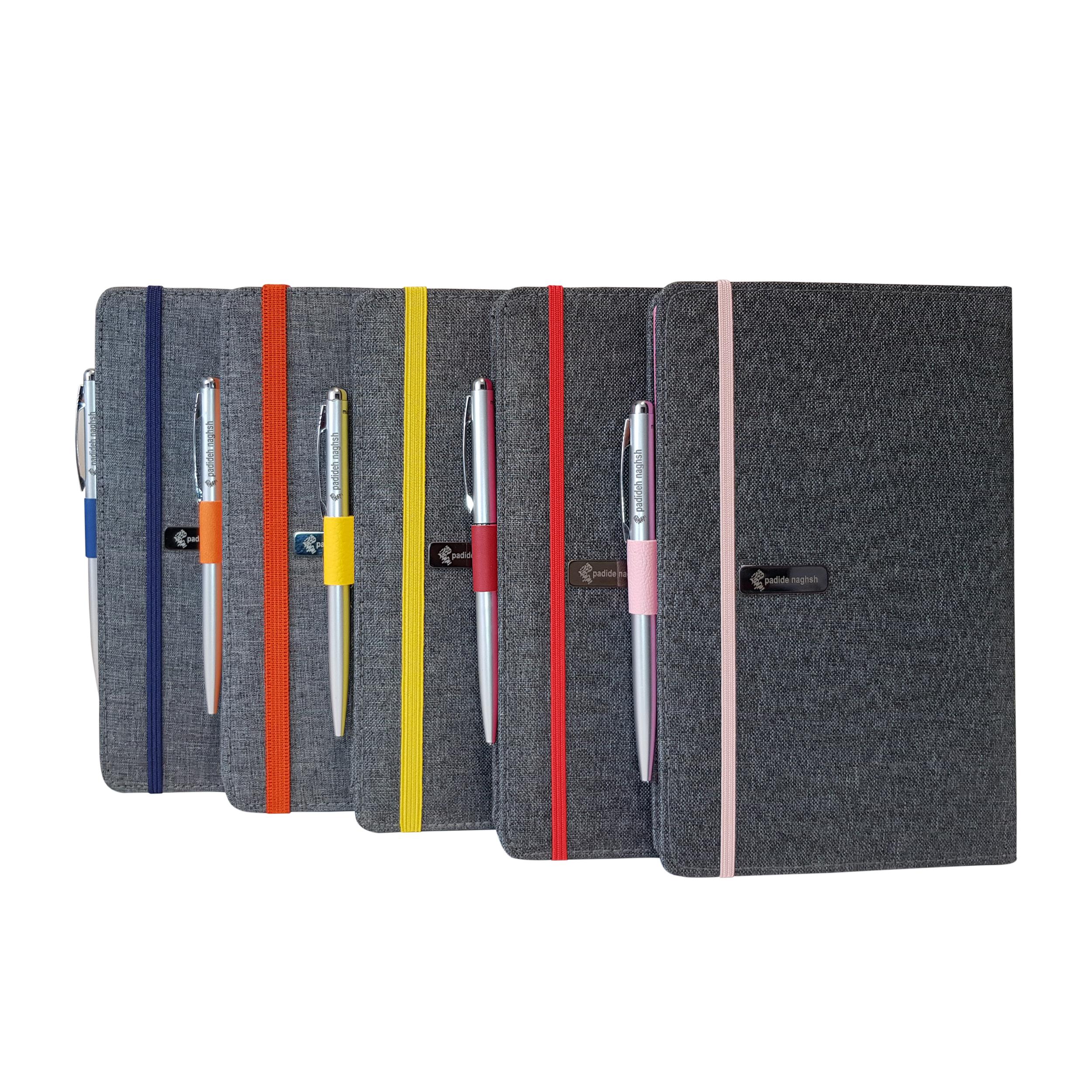 قیمت خرید دفتر یادداشت پدیده نقش مدل کبریتی کد 00258 بسته 5 عددی به همراه خودکار اورجینال