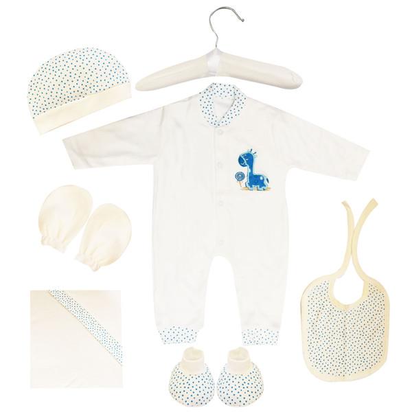 ست 7 تکه لباس نوزادی مادرکر طرح زرافه کد M454.19