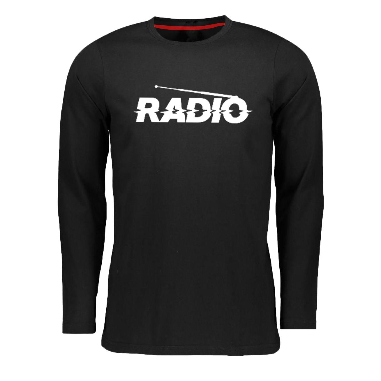 تیشرت آستین بلند مردانه مدل رادیو کد z1126