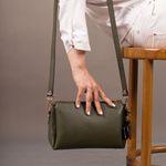 کیف دوشی زنانه رویال چرم کد W77