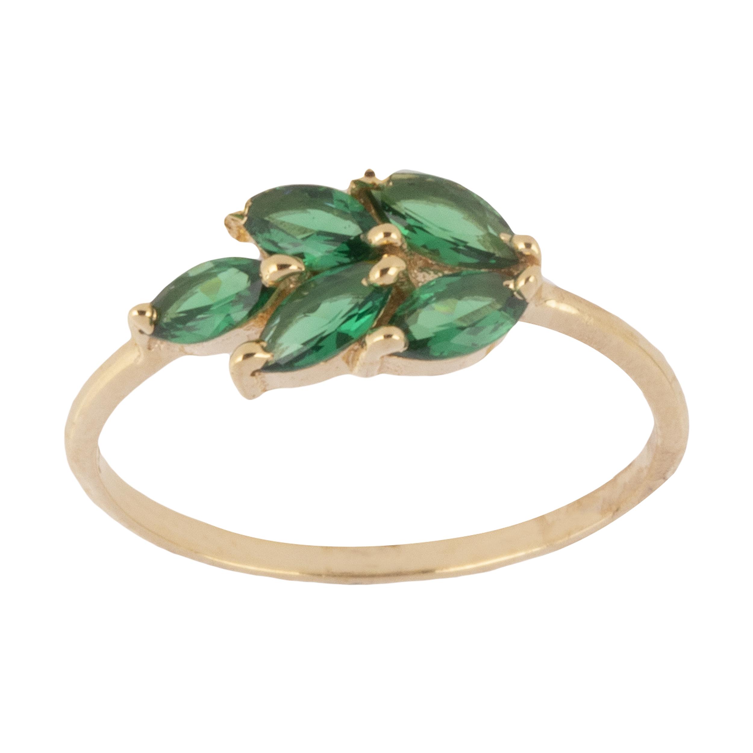 انگشتر طلا 18 عیار زنانه گالری روبی مدل 21095187