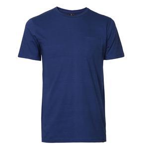 تی شرت آستین کوتاه مردانه جی تی هوگرو مدل تک جیب رنگ سرمه ای