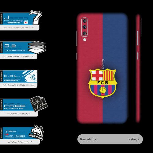 برچسب پوششی مدل BARCELONA-FC مناسب برای گوشی موبایل سامسونگ Galaxy A70