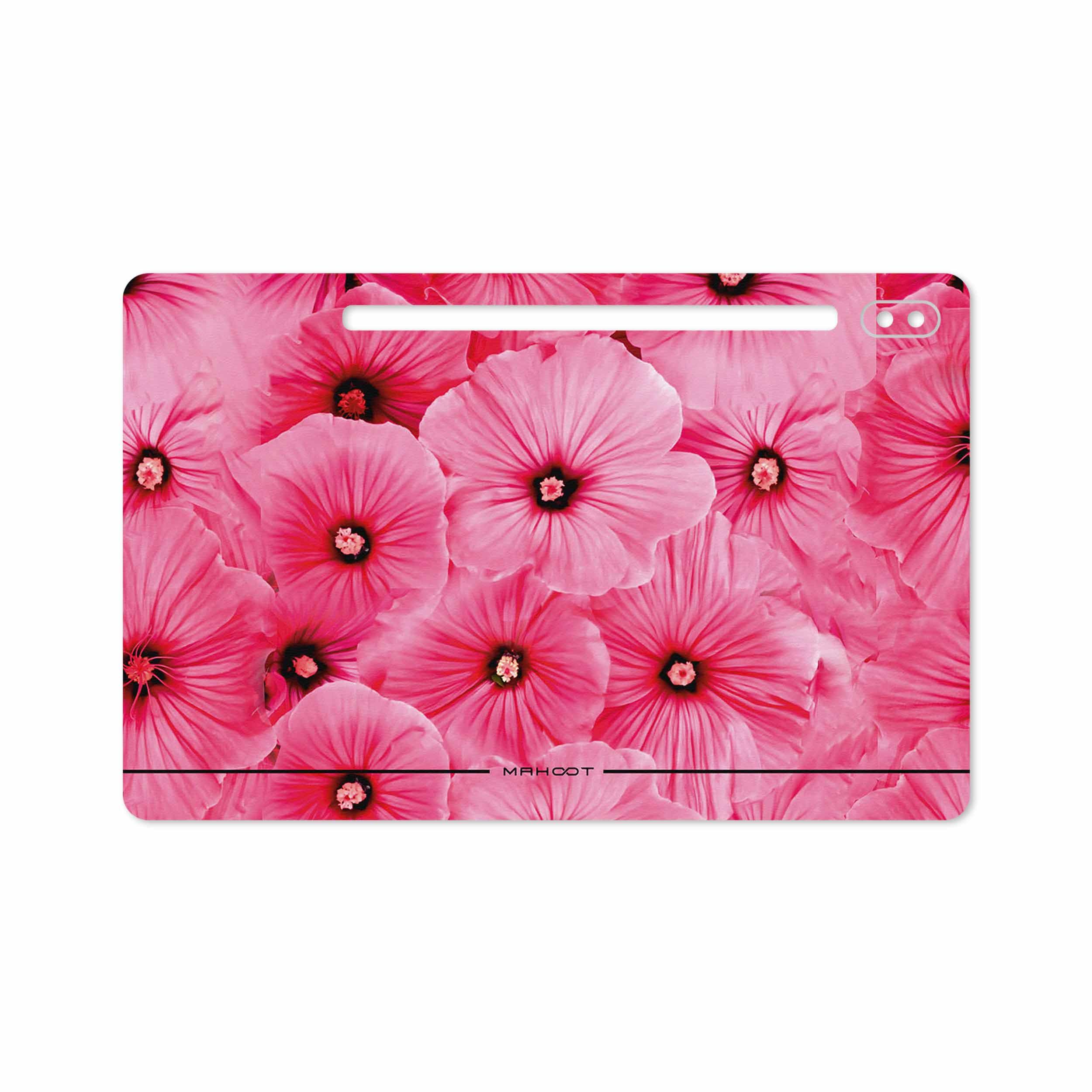 بررسی و خرید [با تخفیف]                                     برچسب پوششی ماهوت مدل Pink-Flower مناسب برای تبلت سامسونگ Galaxy Tab S6 2019 SM-T865                             اورجینال