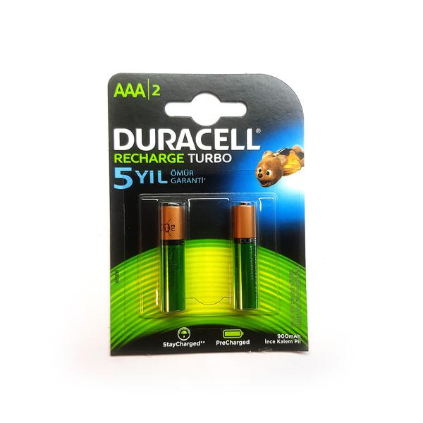 باتری نیم قلمی قابل شارژ دوراسل مدل HR03/DX2400 بسته دو عددی