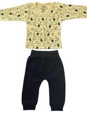 ست تی شرت و شلوار نوزادی طرح فیل کد FF-085  -  - 2