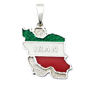 آویز گردنبند نقره مدل نقشه ایران کد VP5286