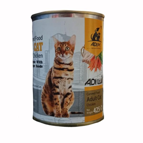 کنسروغذای گربه آدی مدل Chicken_425 وزن ۴۲۵ گرم