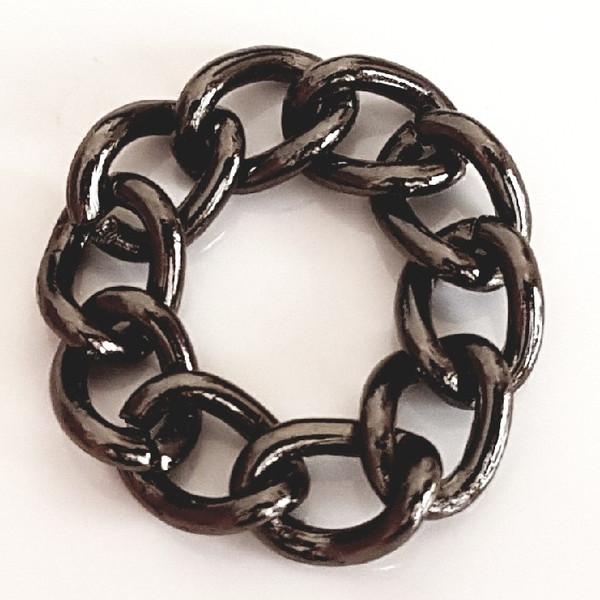 انگشتر مردانه مدل زنجیر کد P544