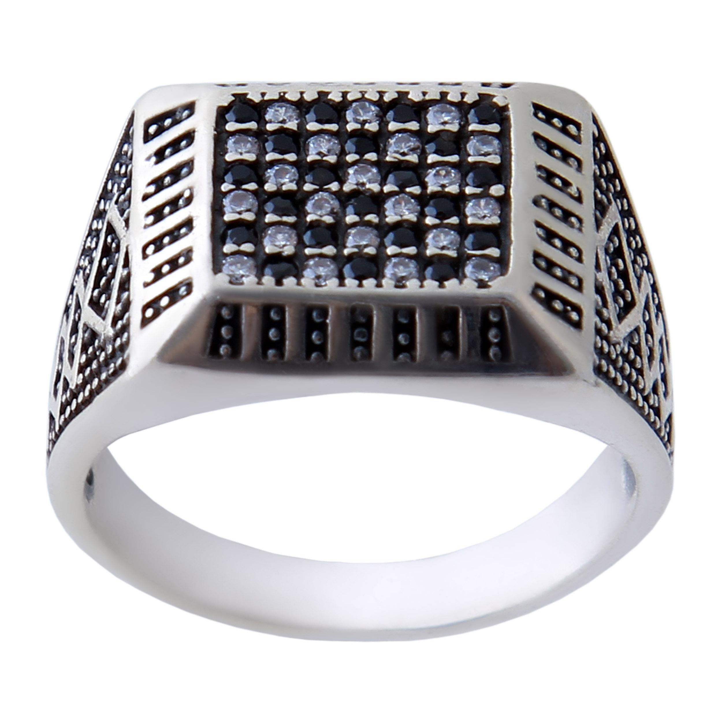 انگشتر نقره مردانه بازرگانی میلادی کد AM_374