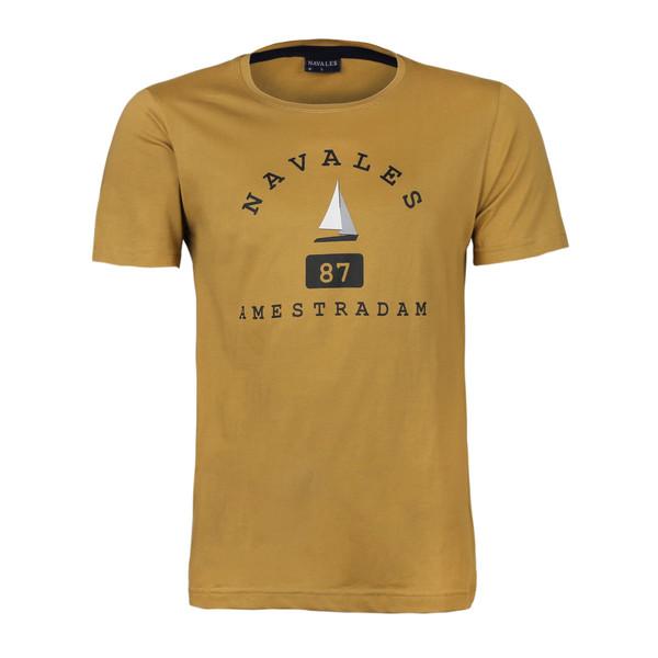 تی شرت آستین کوتاه مردانه ناوالس مدل AMESTERDAM