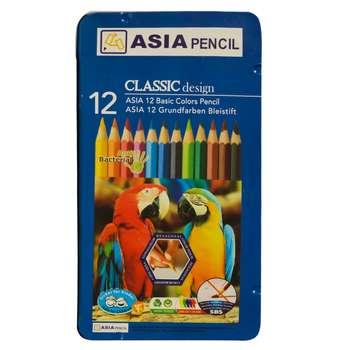 مداد رنگی 12 رنگ آسیا مدل طوطی
