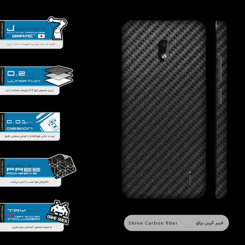 برچسب پوششی ماهوت مدل Shine-Carbon-Fiber-FullSkin مناسب برای گوشی موبایل نوکیا 2.2